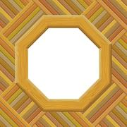 Wooden Framework on a Wall - stock illustration
