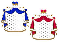Blue and purple royal mantles Stock Illustration
