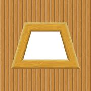 Stock Illustration of Wooden Framework on a Wall