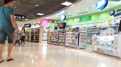 Duty free zone in Bkk airport Stock Footage