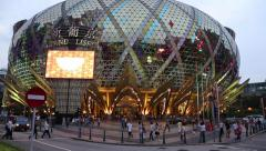 Grand Lisboa Casino and Lisboa Casino in Macao - stock footage