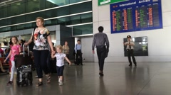 Passengers in HCMC intarnational airport Stock Footage