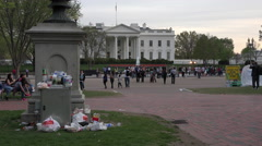 Washington DC White House tourists junk trash 4K Stock Footage