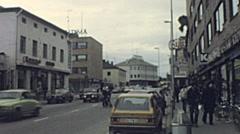 Sodankyla, Lapland 1979: traffic in the street Stock Footage