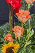 Colorful flower arrangement Stock Photos