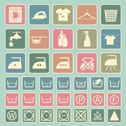laundry and washing icon - stock illustration