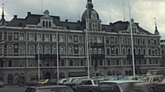 Uppsala 1979: life in the streets Stock Footage