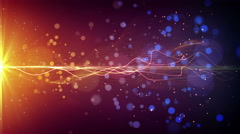 Light stripe and particles loopable background 4k (4096x2304) Stock Footage