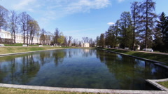 Upper bathhouse. Pushkin. Catherine Park. Tsarskoye Selo. Stock Footage