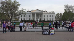 Washington DC White House tourists protestor 4K 068 Stock Footage