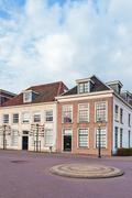 Ancient city houses in Amersfoort, The Netherlands Stock Photos