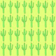 Sketch desert cactus in vintage style - stock illustration