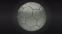 Rotating soccer ball made of steel net. Stock Footage