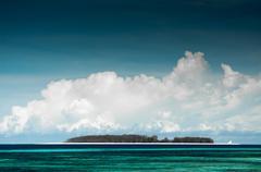 Small Island near Zanzibar - stock photo