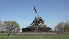 Washington United States Marine Corps War Memorial aircraft 4K Stock Footage