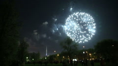 Fantastic fireworks at VVC Stock Footage