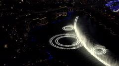 4K Spectacular Las Vegas Fountain Water Illuminated Show Night ED - stock footage