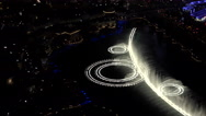 Stock Video Footage of 4K Spectacular Las Vegas Fountain Water Illuminated Show Night ED