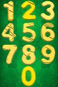 Numbers zero to Nine - stock illustration