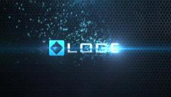 Stock After Effects of Light Streak Blue Particle Sparks Logo and Text Reveal Animation Dark Opener