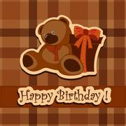 Stock Illustration of Holiday greeting card on his birthday