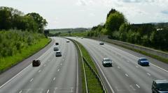 British Motorway Time-lapse - stock footage