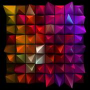 Sharp random pyramids. Abstract futuristic background. Stock Illustration