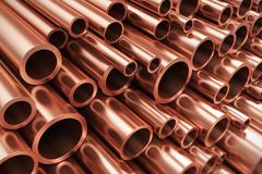 Copper pipes Stock Illustration