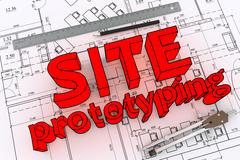 Engineering drawing - stock illustration