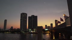 Saphan Taksin Sunset Stock Footage