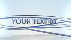 Stock After Effects of Ribbons Texts Presentation - Apple Motion Template