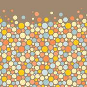 Abstract background with color circles. Vector illustration - stock illustration