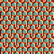3d background with hexagons Stock Illustration