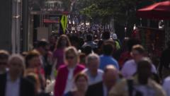 Anonymous Crowd of City Commuters - Slow Motion Stock Footage