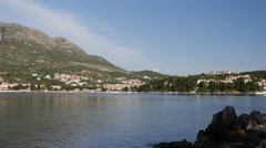 Pan from surrounding in Cavtat Croatia Stock Footage