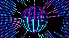 Equalizer Disco-Ball 4K 01 - stock footage