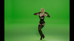 Corset Sexy Dance Stock Footage