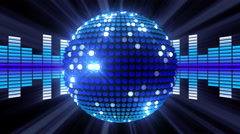 Equalizer Disco-Ball 4K 02 Stock Footage