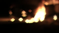 The car on fire at night Stock Footage