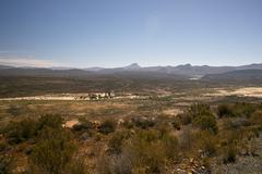 South Africa Landscape Desert Bush Stock Photos