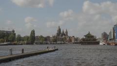 Amsterdam City Oosterdok Docks Hyperlapse - Motion Timelapse Stock Footage