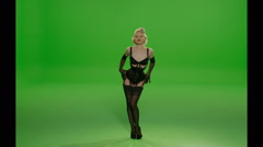 Corset Sexy Dance - stock footage