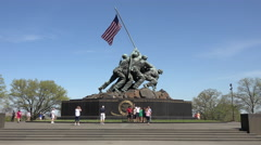 United States Marine Corps War Memorial Washington DC 4K Stock Footage