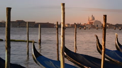 Lagoon at sunset - Venice Italy Stock Footage
