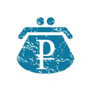 Grunge ruble purse icon Stock Illustration