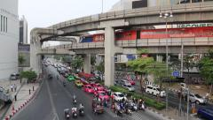 Road traffic in Bangkok, Thailand Stock Footage