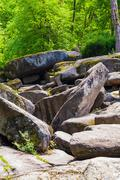 Rocky boulders Stock Photos