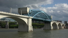 Market Street Bridge In Chattanooga, Tennessee, USA Stock Footage