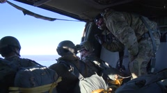 Stock Video Footage of 3d Air Support Operations Squadron Parachute Jump