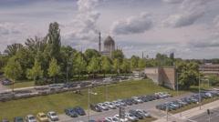 Hyperlapse Timelapse Yenidze Building Dresden Germany Stock Footage